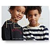 Sending Peace Holiday Photo Card from Pinhole Press ($2 per card)