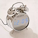 Retro Chrome Digital Alarm Clock