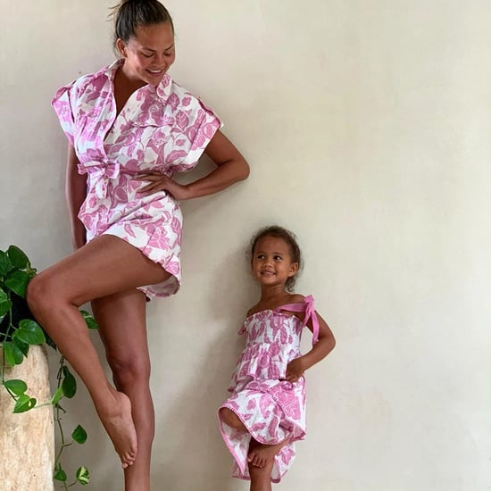 Chrissy Teigen and Luna Stephens Wear Matching Pink Outfits