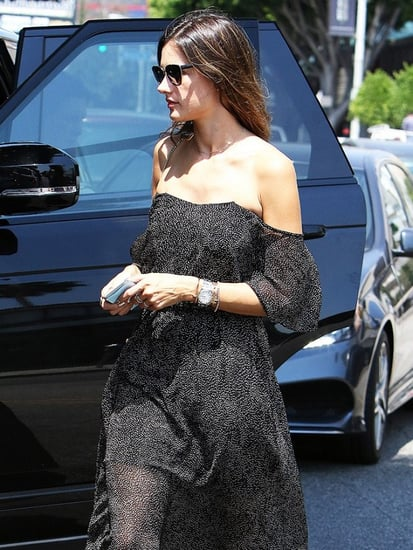 How Alessandra Ambrosio Styled an Evening Dress for Daytime