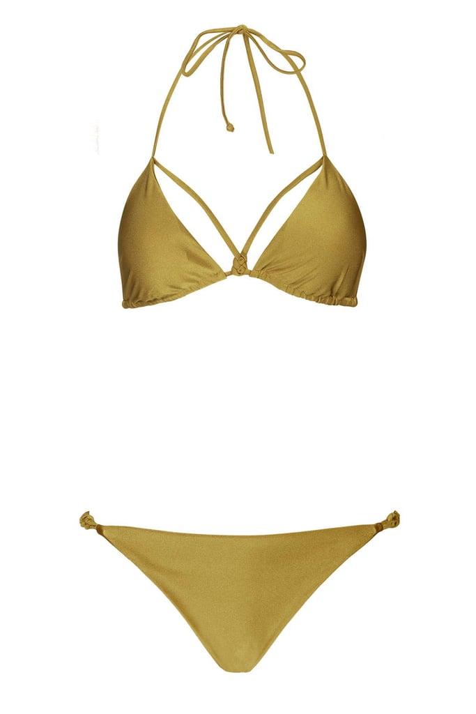 bfffd8987 Topshop Celtic Knot Bikini Top ($28) and Bottom ($20) | Bella Hadid ...