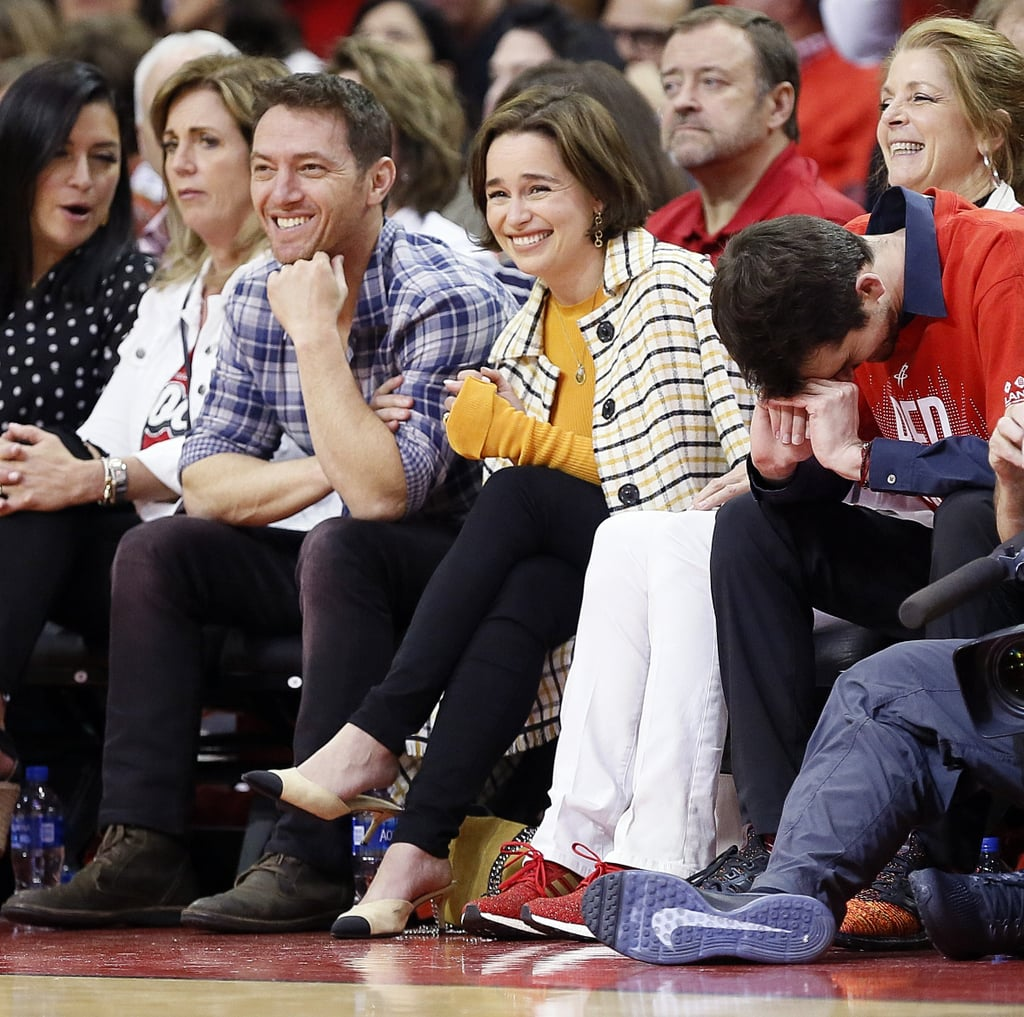 Emilia Clarke at Houston Rockets Game May 2019
