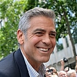 George Clooney was all smiles in France.