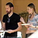 Kate Bosworth Flashes Skin and Gets a Set Visit From Michael Polish
