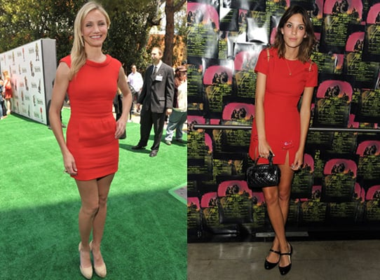 Photos of Alexa Chung and Cameron Diaz in Little Red Dresses 2010-05-17 09:35:36