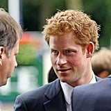 Prince Harry and his red hair.
