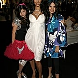 She was joined by her younger sisters Kendall and Kylie Jenner for the Dash Fall fashion show in March 2007.