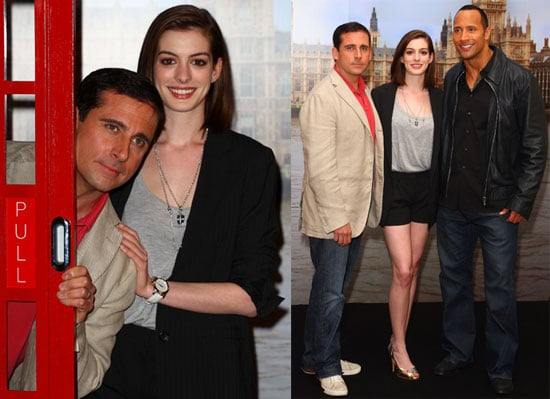 Photos of Steve Carell, Anne Hathaway at The Get Smart London Photo call