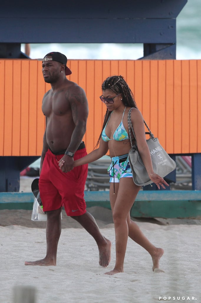 Taraji P. Henson Holding Hands With a Man in Miami