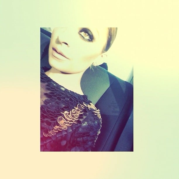 Nicole Richie worked a seriously smokey eye and embellishments. Source: Instagram user nicolerichie
