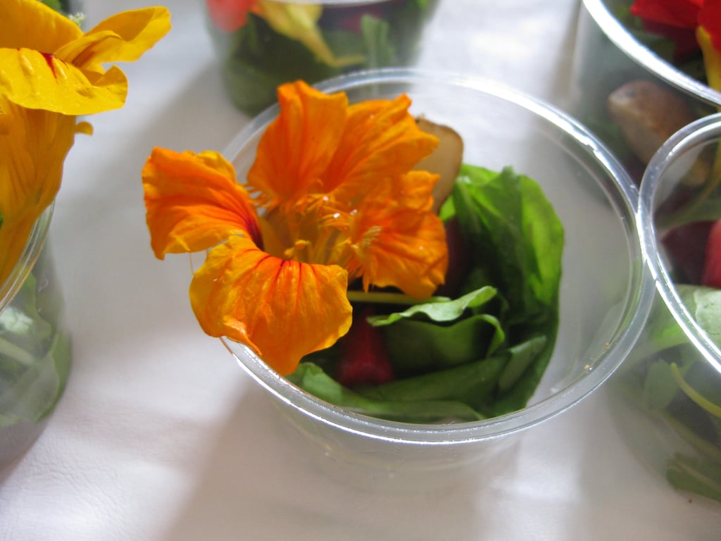Greens With Edible Flowers