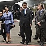 Ms. Liyuan Had a Handle on Peplum in 2013