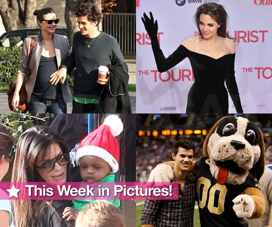 Angelina Gets Gloved, Miranda and Orlando Show Off Their Baby Love, Little Louis Plays Santa, and More in This Week in Pictures!