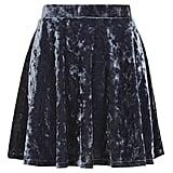 Topshop Velvet Skater Skirt ($35)