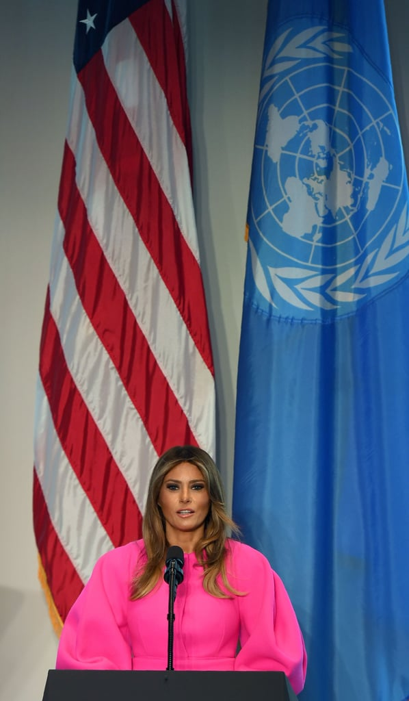 Melania Trump Wearing Pink Delpozo Dress