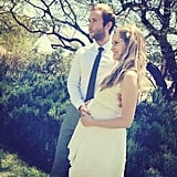 """Teresa Palmer showed off her baby bump in this Instagram photo with Mark Webber. The actors later said """"I do"""" in a private villa in Punta Mita, Mexico, just a few days before Christmas.  Source: Instagram user tez_palmer"""