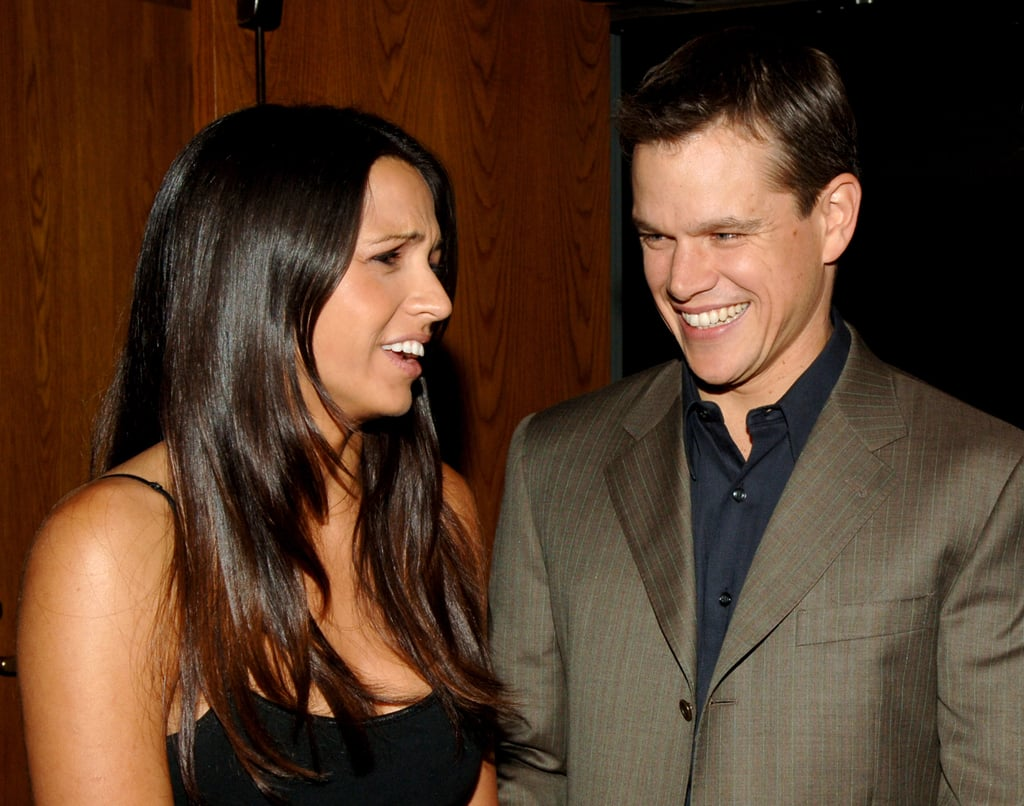 Matt and Luciana Damon laughed at an August 2005 party in LA.