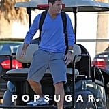 Kevin Connolly hopped off the golf cart when he reached the set.