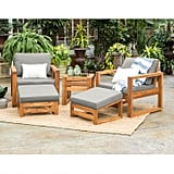 Hudson Acacia Patio Set of 5