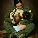 When 1 Photographer Shared a Touching Photo of a Women Breastfeeding in Uniform
