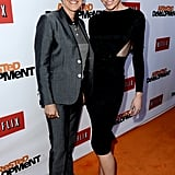 Ellen DeGeneres and a Casadei-wearing Portia de Rossi attended the Arrested Development premiere.