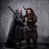 John Callen as Oin and Peter Hambleton as Gloin in The Hobbit: An Unexpected Journey.
