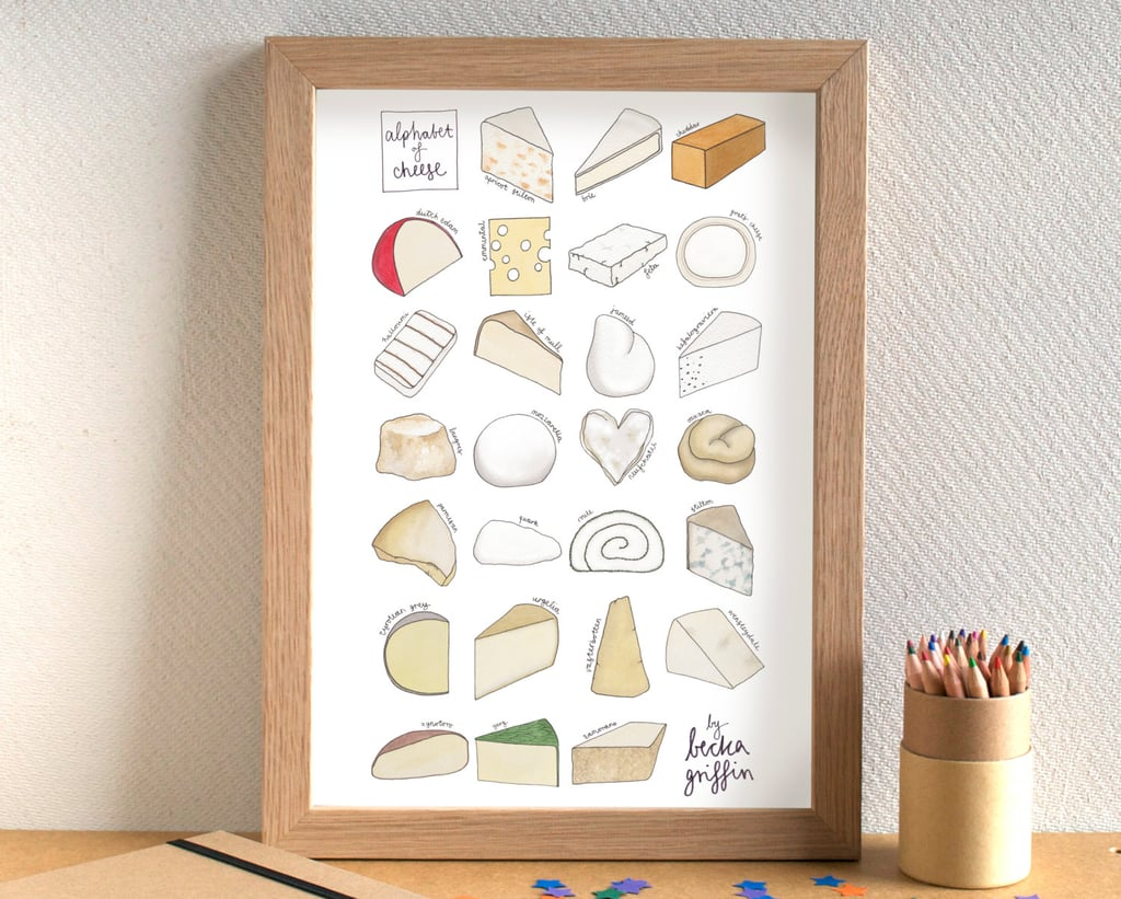 Cheese Alphabet Print ($23)
