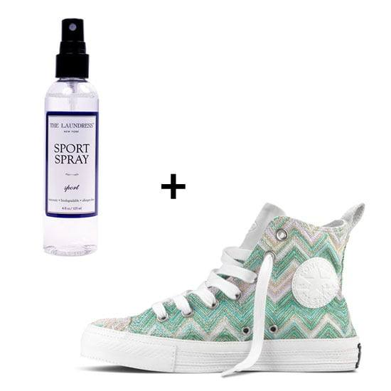 Sole Salvation: The Laundress Sport Spray ($10) How to Use: Chances are, you'll be doing some outdoor running, picnicking, and more during the warm-weather season. To ensure your tennis shoes (read: Missoni for Chuck Taylor in Mint, $200) remain fresh and clean all Summer long, spray this miracle sports potion on your sneakers, on your yoga mat, in your gym bag, and even on yourself — it'll remove bad odor and put to use its antibacterial properties, too. Not to mention, it's nontoxic, biodegradable, and allergen free.