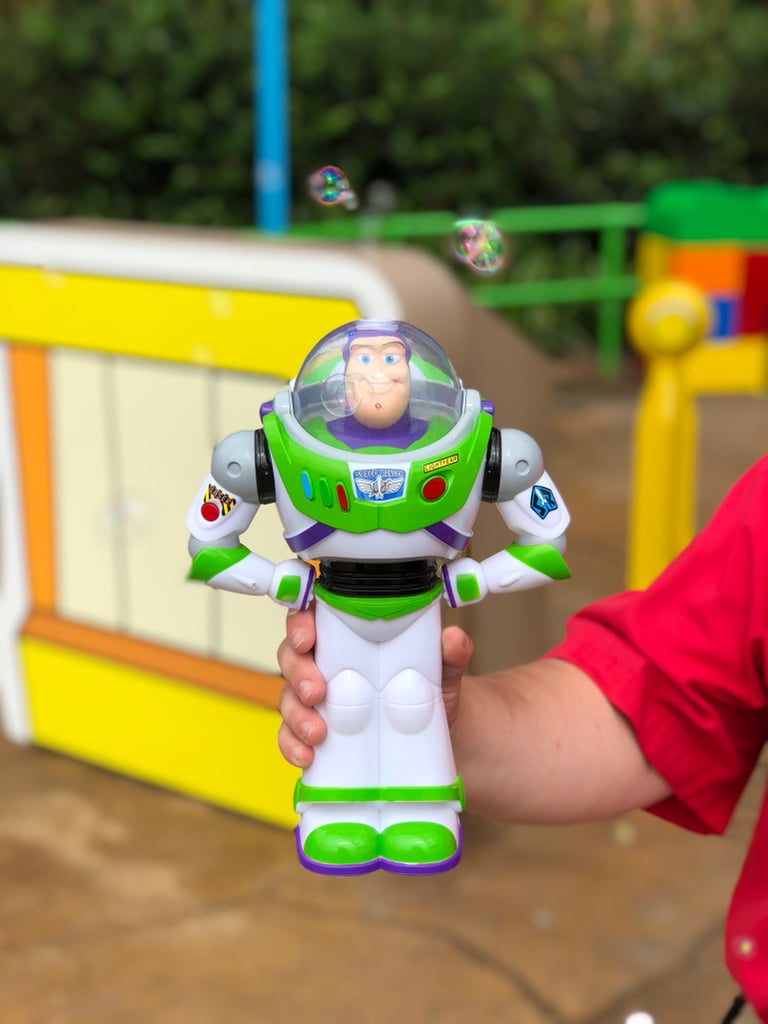 Buzz Lightyear bubble blower toy.