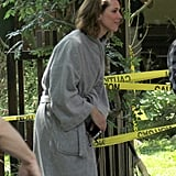 Rebecca Hall made her way onto the LA set of Transcendence on Monday.