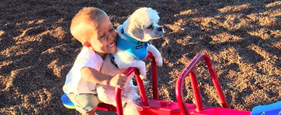 Boy Adopts Dog With Same Form of Dwarfism