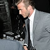 David Beckham headed into London's The Arts Club.
