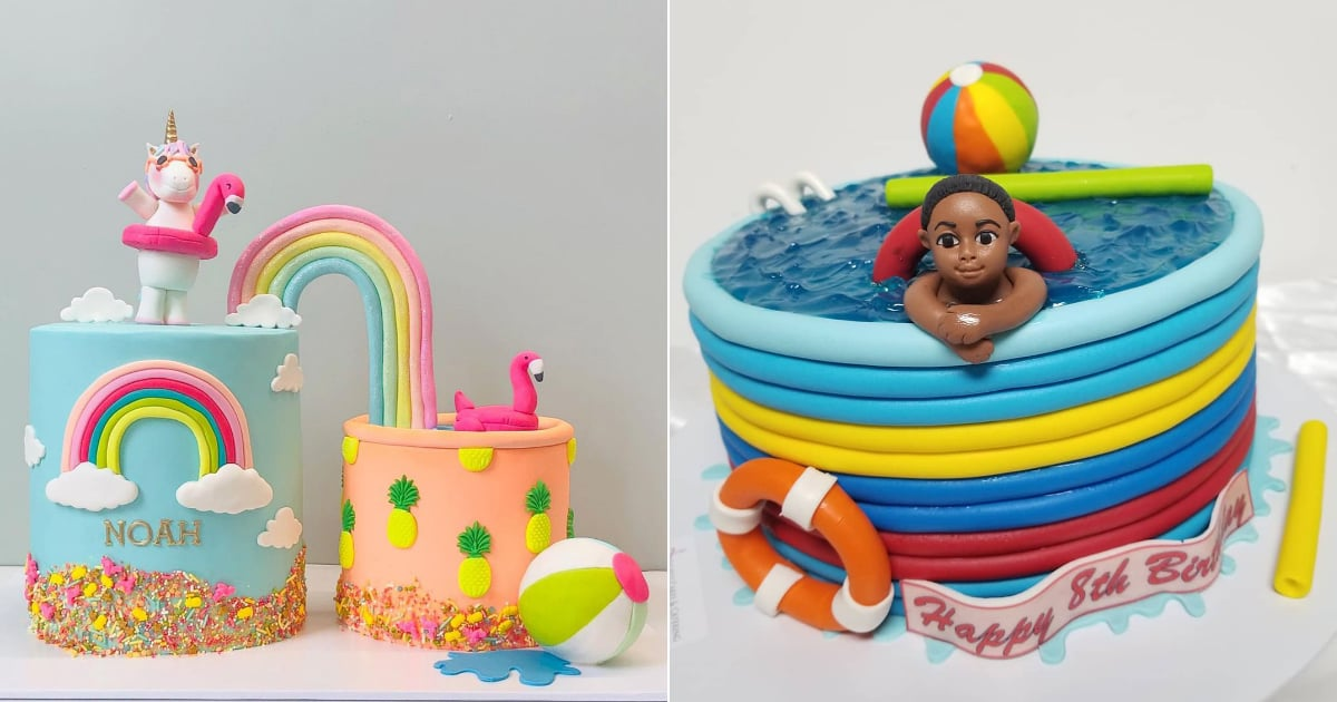 Splish Splash! Get Cake Inspiration For Your Next Pool Party From These Summery Themed Cakes.jpg