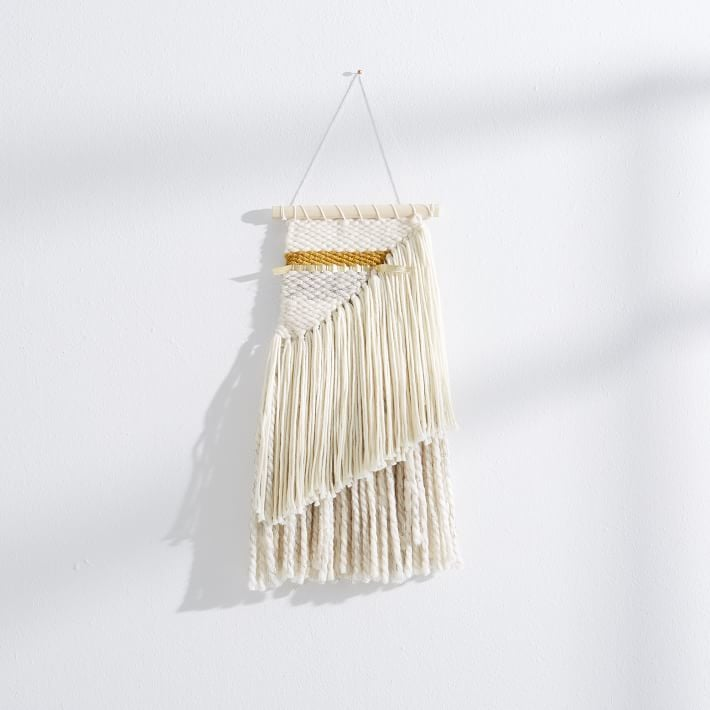 Gold + Ivory Wall Hanging ($45)