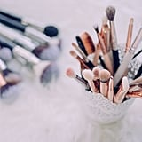 Wash your makeup brushes.