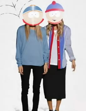 mary kate olsen and ashley olsen sported south park masks - Mary Kate And Ashley Olsen Halloween