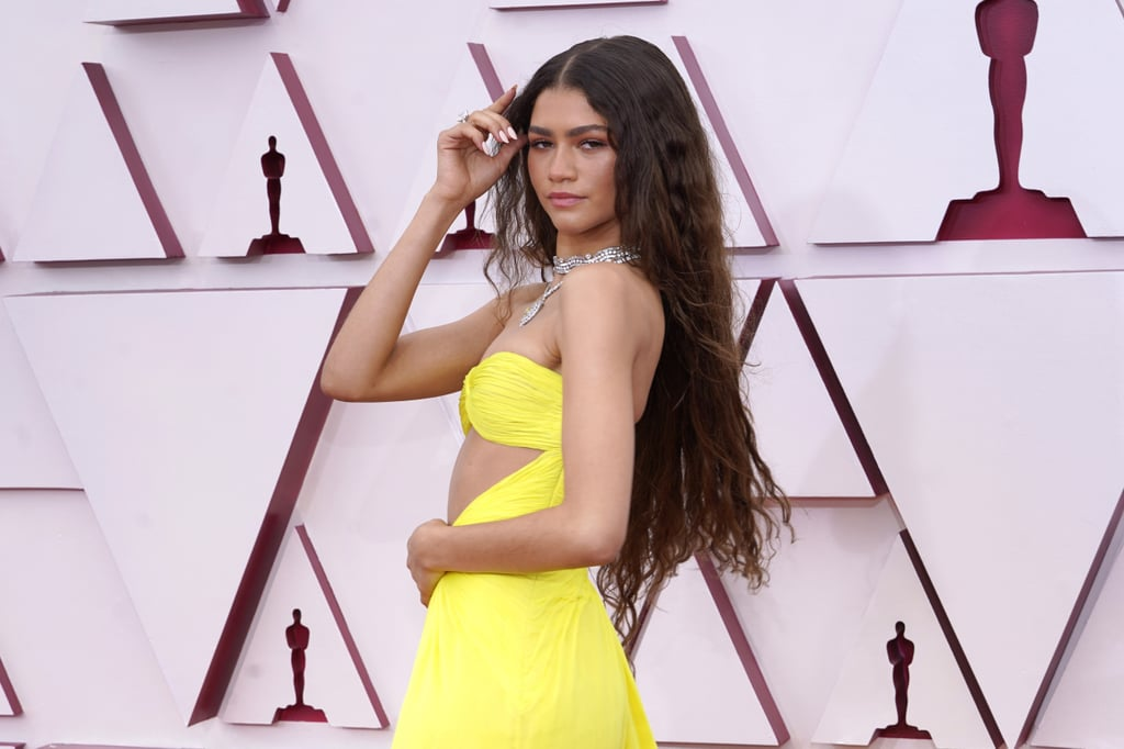 Zendaya's Long, Wavy Hairstyle and Bold Brows