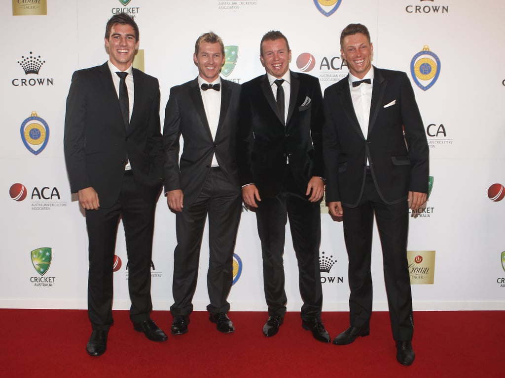 Patrick Cummins, Bret Lee, Peter Siddle and James Pattinson