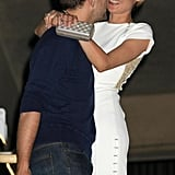 Diane Kruger threw her arms around Joshua Jackson in May 2008 during a yacht party at Cannes.