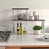 Gaspard 2 Piece Stainless Steel Square Accent Storage Shelf Set
