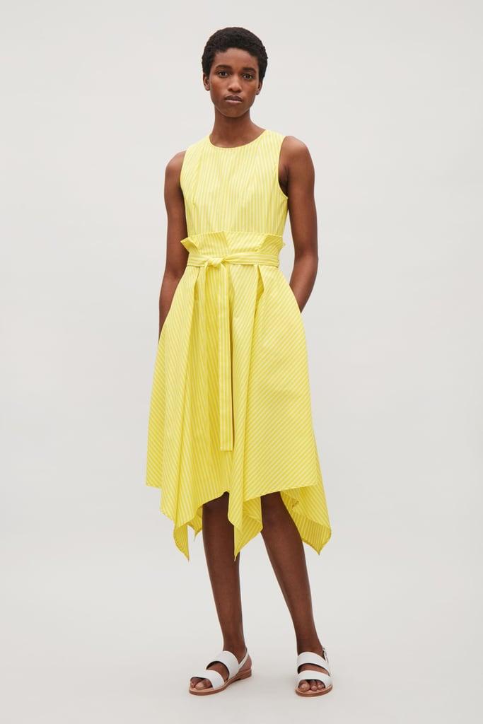 Cos Sleeveless Dress With Pleated Waist