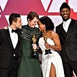 Pictured: Celebrities, Oscars, Regina King, Rami Malek, Mahershala Ali, and Olivia Colman