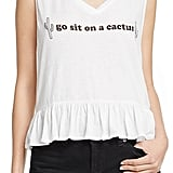 Wildfox Couture Go Sit On A Cactus Peplum Tank ($64)