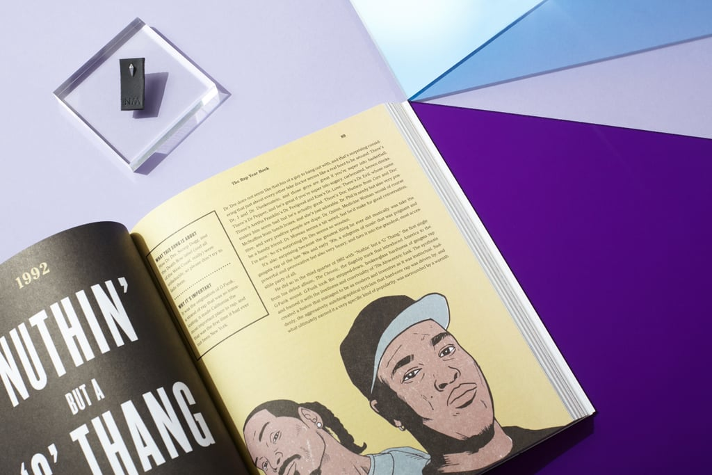 Hip-hop reading + single pyramid earring for the rap fan