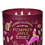 Bath and Body Works Pumpkin Apple 3-Wick Candle