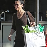 Sandra Bullock went toy shopping for Louis.