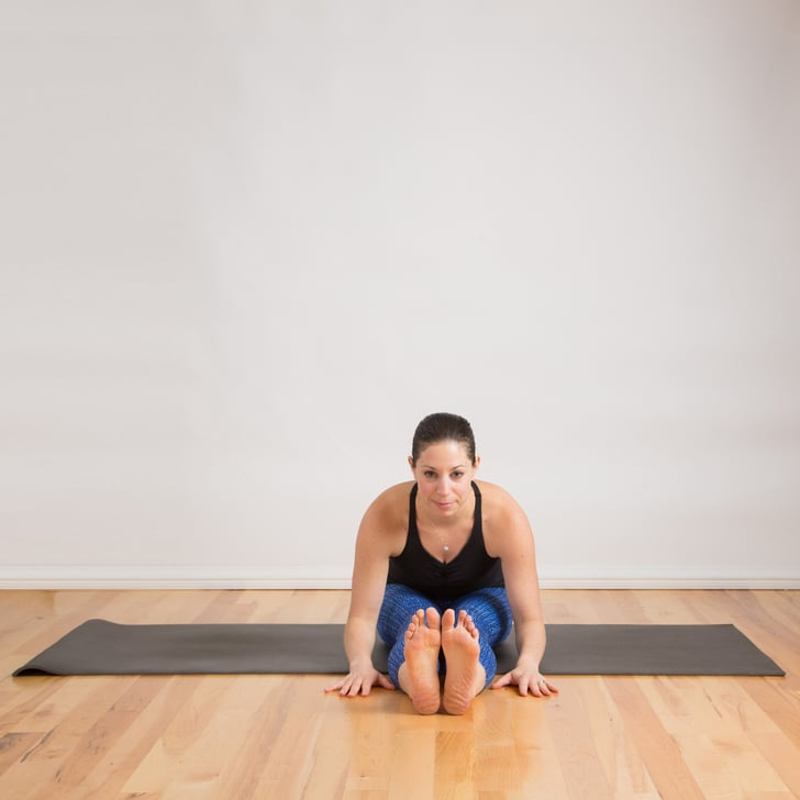 Seated Forward Bend Relaxed Hamstring Stretches Yoga