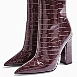 Harri Burgundy Point Boots