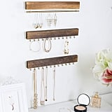 Gold and Wood Jewelry Organizer Set