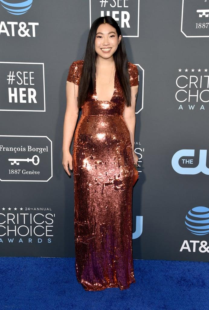 Awkwafina at the 2019 Critics' Choice Awards